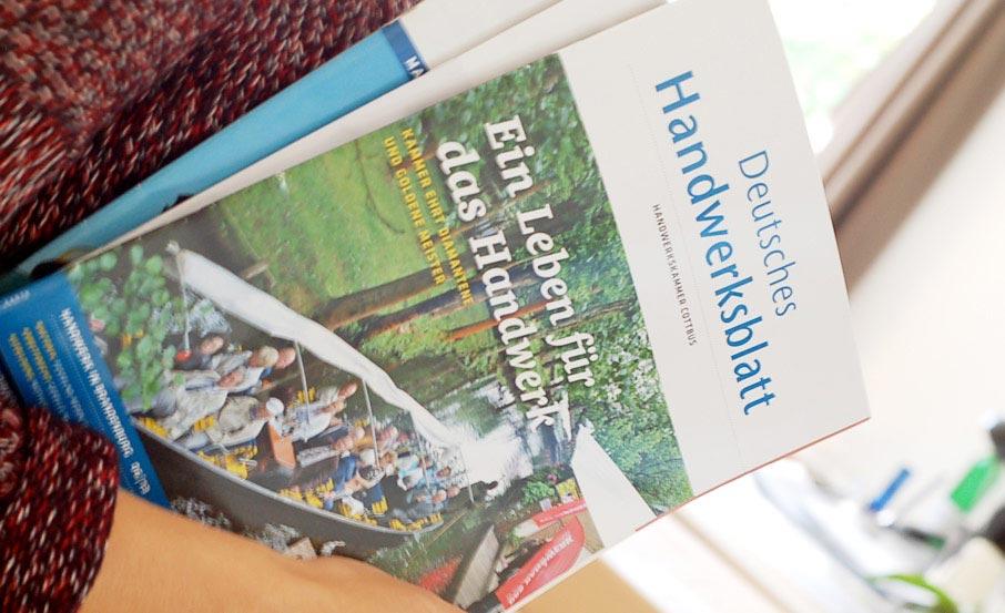 """Projekt:  Mitgliedermagazin """"Deutsches Handwerksblatt"""" / Handwerkskammer Cottbus"""