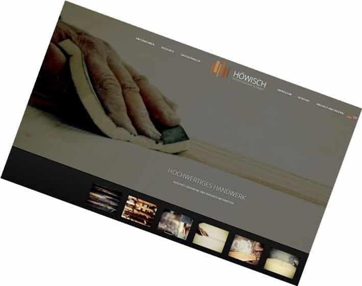 HÖWISCH Deutschland / Design-Konzeption, Web-Fotografie, Content