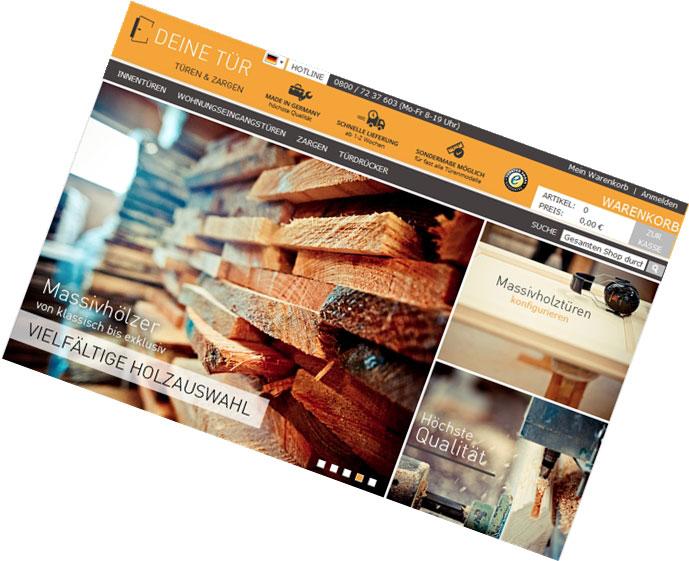 Massivholztüren-Werk Arendsee / Entwicklung Web-Shop, Design, Vertriebscontent