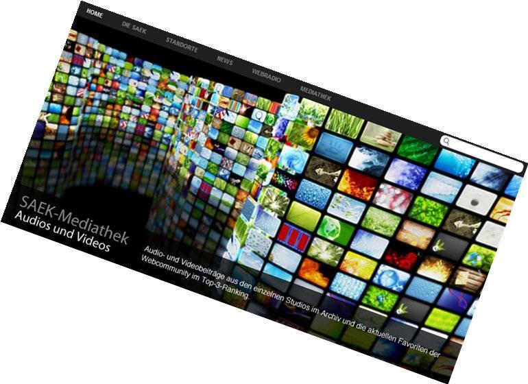 SAEK Sachsen / Konzeption Online-Mediathek, Design-Relaunch, Multimedia-Datenbank