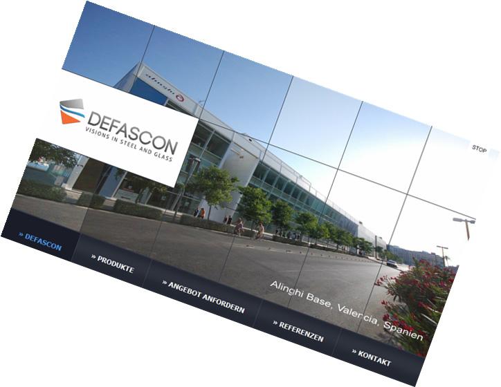 DESFACON Deutschland / Design-Relaunch, internationale Webseite (deutsch/englisch/arabisch)