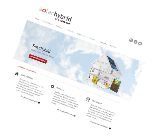 Hörmann Solarhybrid / Konzeption, Design, Content-Strategie
