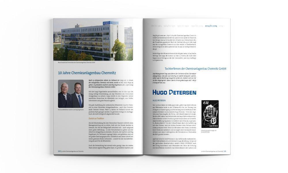 Unternehmenschronik erstllt von Redaktion, Agentur und Verlag. Freie Texter und Grafikbüro.