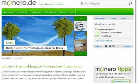 Relaunch Website von Onlineportal