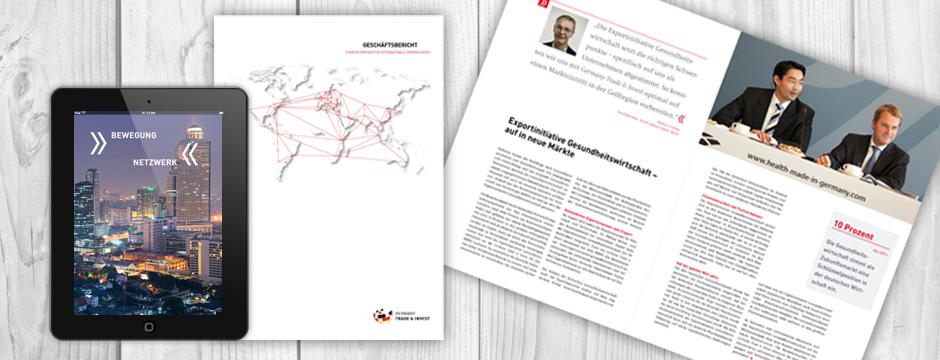 Werbeagentur Berlin erstellt Geschäftsbericht für Wirtschaftsförderung der Bundesrepublik Deutschland