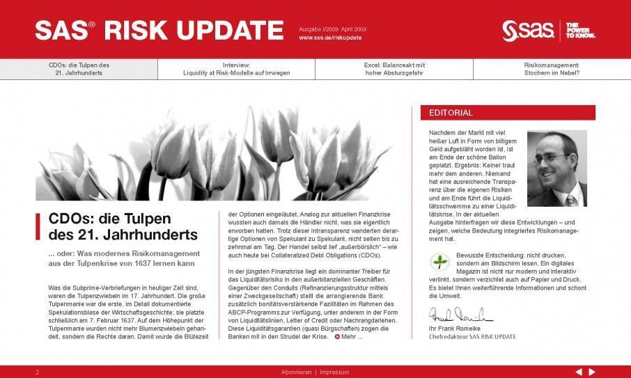 PR-Agentur verantwortet eMagazine für Risk-Gipfel: Konferenz-Marketing