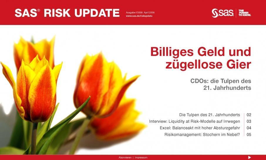 Agentur erstellt im Rahmen des crossmedialen Konferenz-Marketing eMagazine für Risk-Gipfel; Konferenz-Marketing