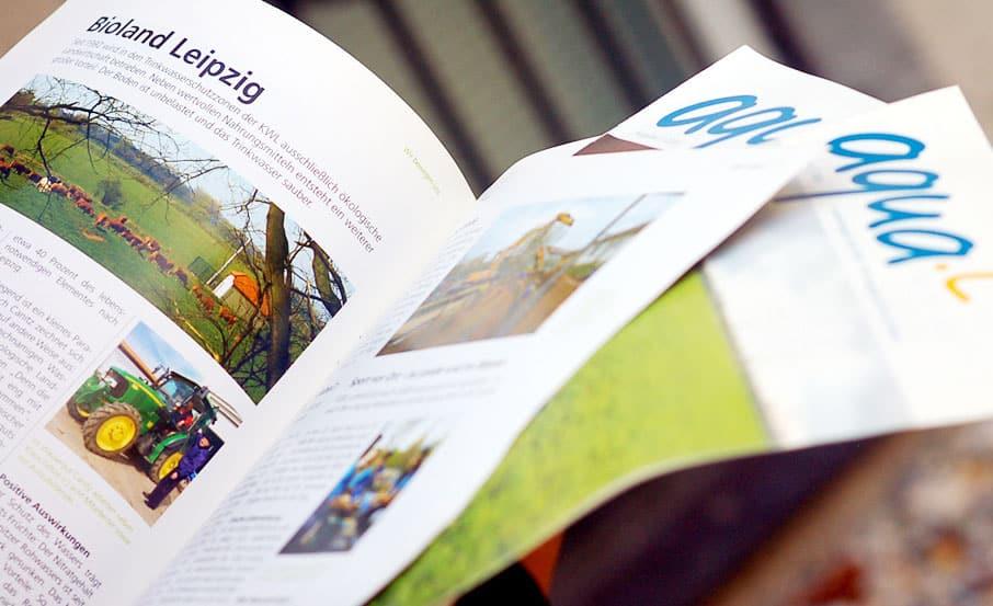 "Projekt:  Kundenmagazin ""aquaL."" / Kommunale Wasserwerke Leipzig"