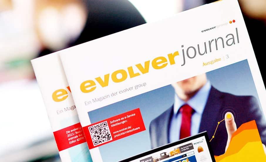 "Projekt:  Kundenmagazin ""evolver journal"" / evolver group"