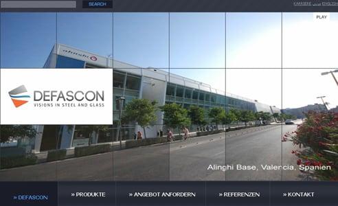 Online Leistungen: Agentur verantwortet Relaunch für Bauunternehmen Defascon