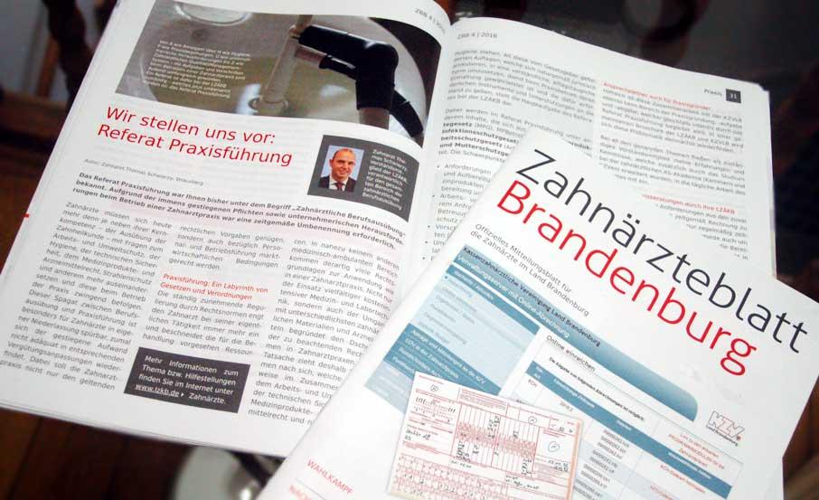 Printdesign Agentur relauncht Mitgliedermagazin der LZKB und KZVLB 'Zahnärzteblatt'
