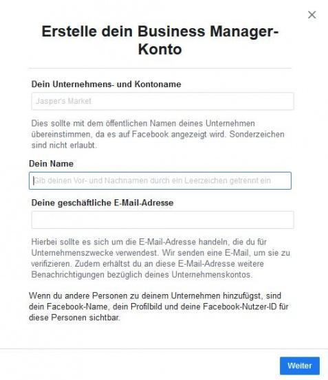 facebook business manager-einrichten