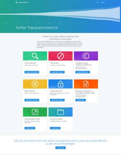 digitaler online transparenzbericht twitter