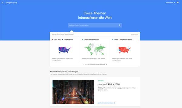 evergreen content google trends
