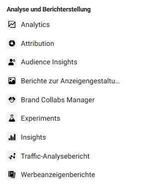 facebook werbeanzeigenmanager analytics