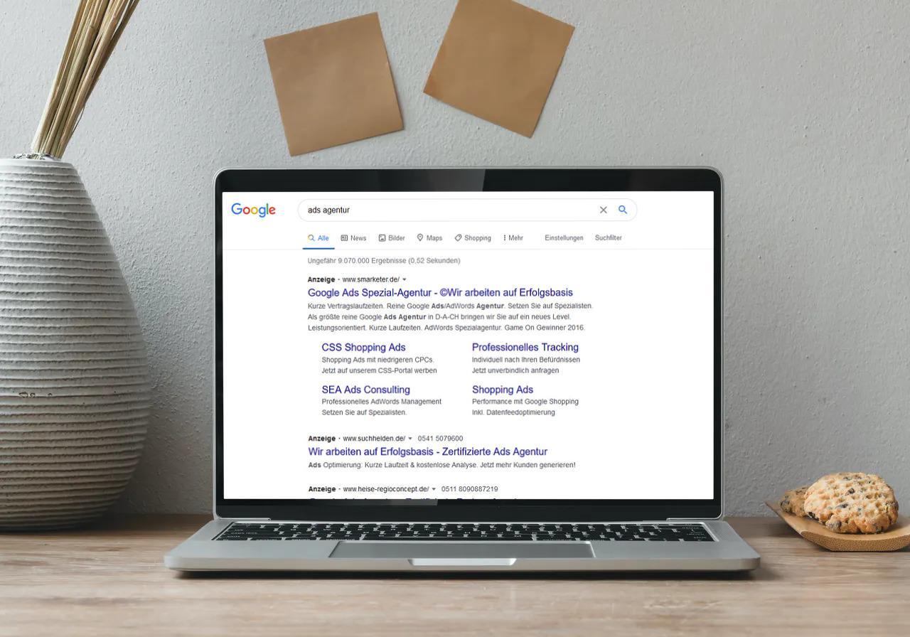 Google Ads Suchnetzwerk