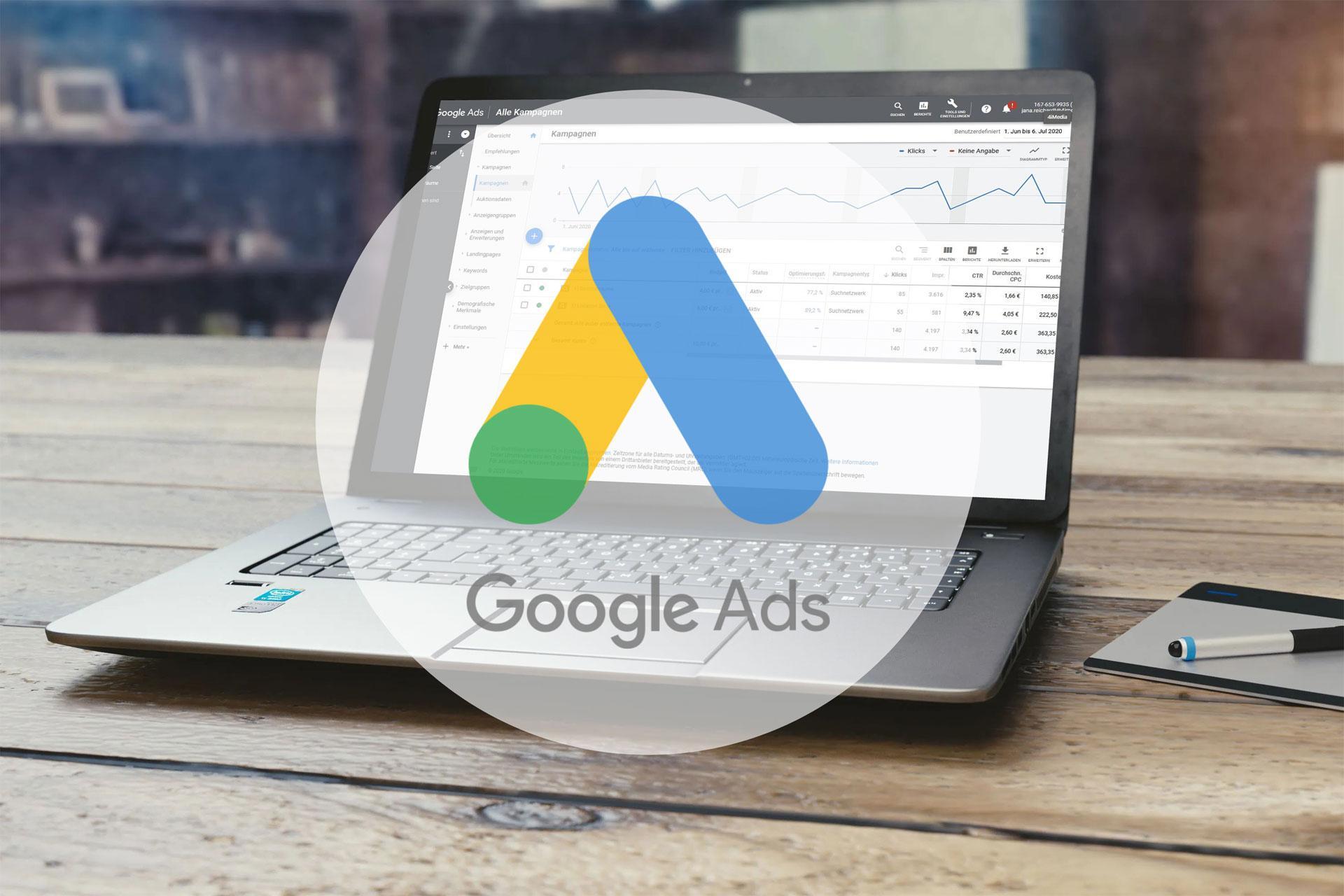 SEM Agentur erstellt effektive Google Ads Kamapgnen