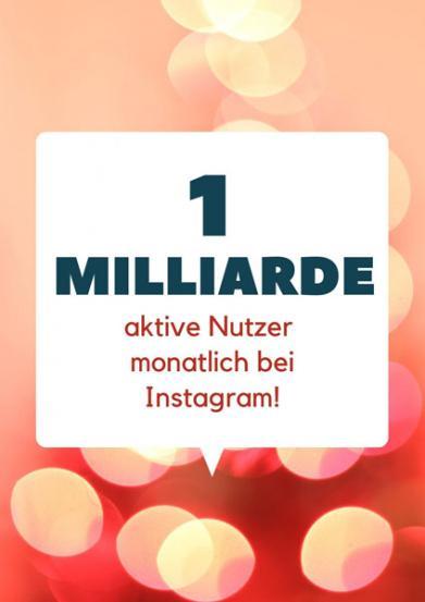 1 Milliarde Instagram Nutzer