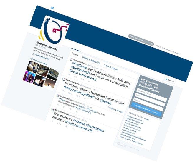 Medientreffpunkt Mitteldeutschland / Twitter-Live-Berichterstattung