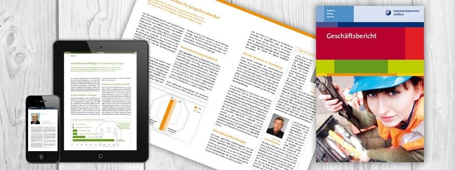 Layout und Design Geschäftsbericht