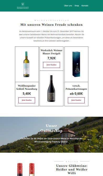 Agentur unterstützt Newsletter-Marketing der Winzervereinigung Freyburg-Unstrut eG