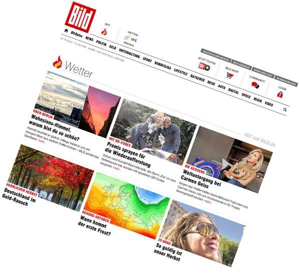 BILD.de / Rubriken-Content, Infografiken, Fotostrecken
