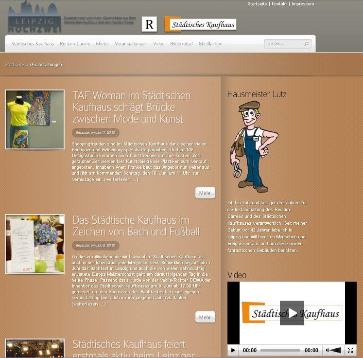 Website Relaunch Agentur betreute Immobilien-Blog