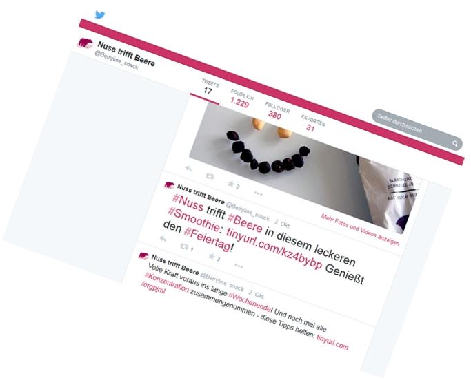 BERRYLINE Deutschland / TWITTER Vertriebs-Kommunikation, Online-Content, Agenda-Setting,