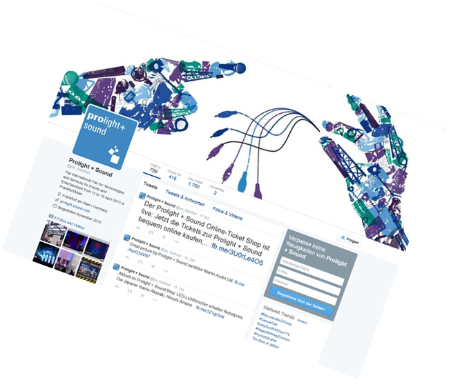 MESSE FRANKFURT / TWITTER Live-Berichterstattung, Themenplanung