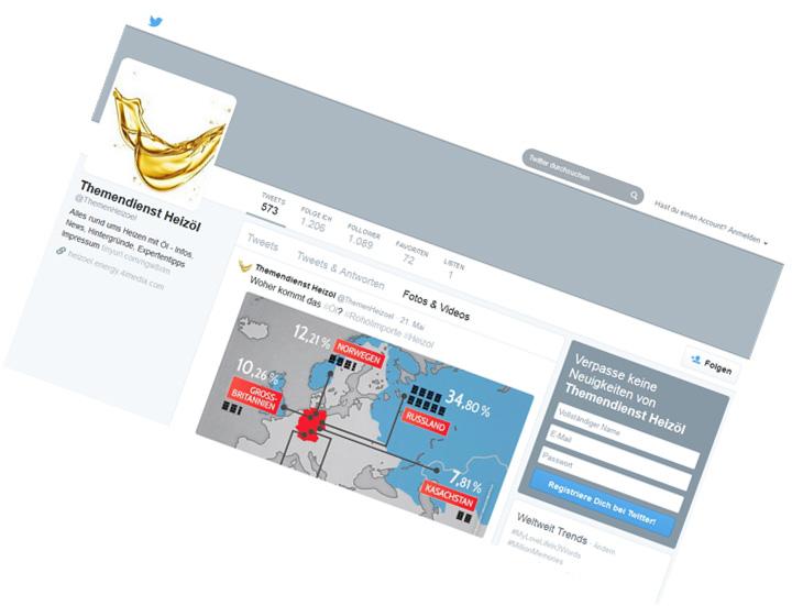 TOTAL Deutschland / TWITTER-Themendienst für Medien und Multiplikatoren, Infografiken, Redaktion