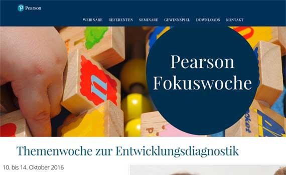 Web Design Agentur erstellt Landinpage für Pearson