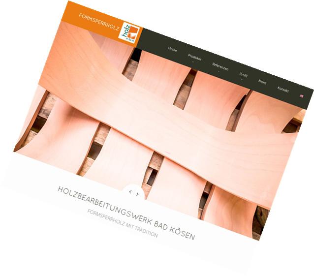 Holzbearbeitungswerk Bad Kösen / Relaunch & Design Webseite