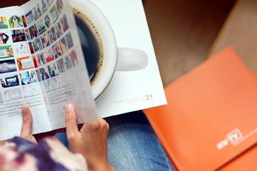 Werbeagentur Imagebroschüre produziert Info-Broschüre für KV-TV Prisma